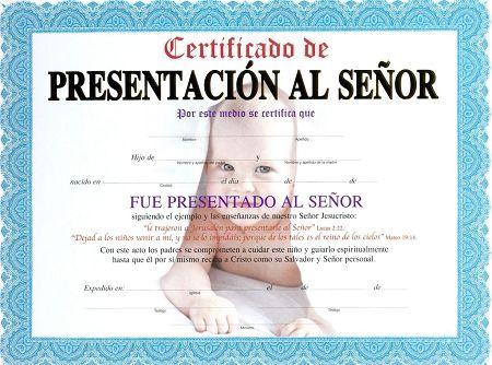 Certificados de presentacion de niños gratis - Imagui | bautismo ...