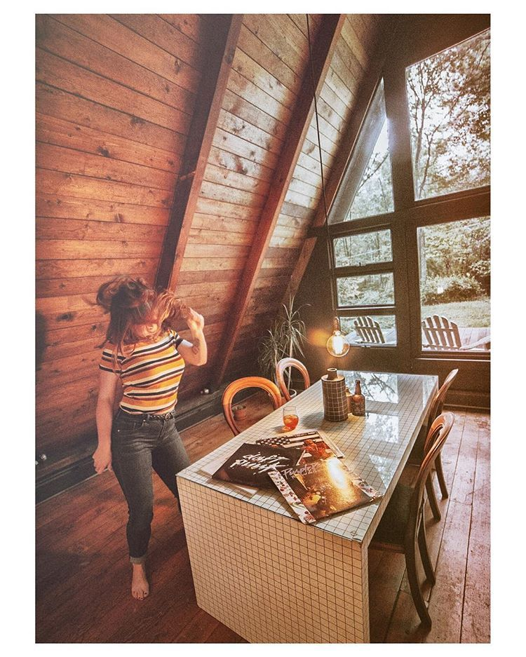 Vinyl Collections Worth Dancing For A Black A Frame Kerhonkson Ny House In The Woods Cabin Design Cozy Cabin Interior