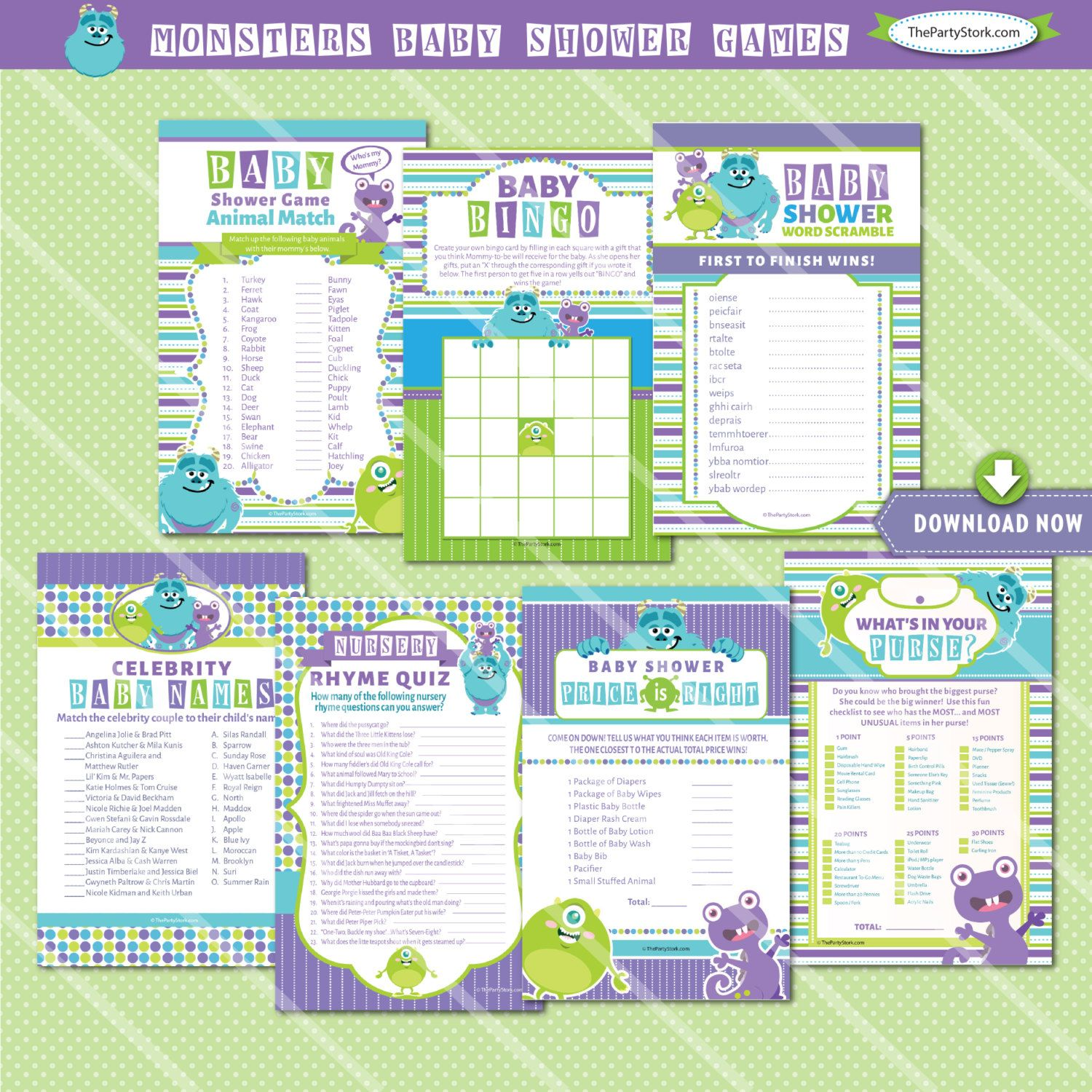Monsters Inc Baby Shower Games, Monsters Inc Baby Shower Game ...