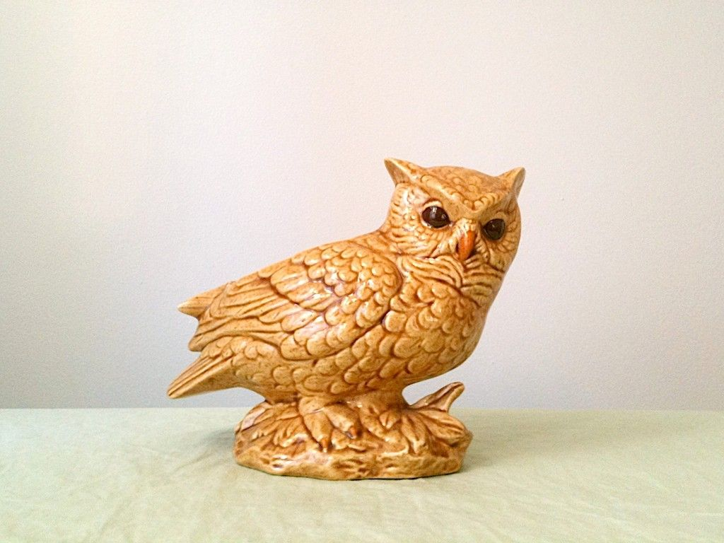 A good friend of mine was obsessed with owls, and she had them all over her house.  I now love own ornaments, because they remind me of her