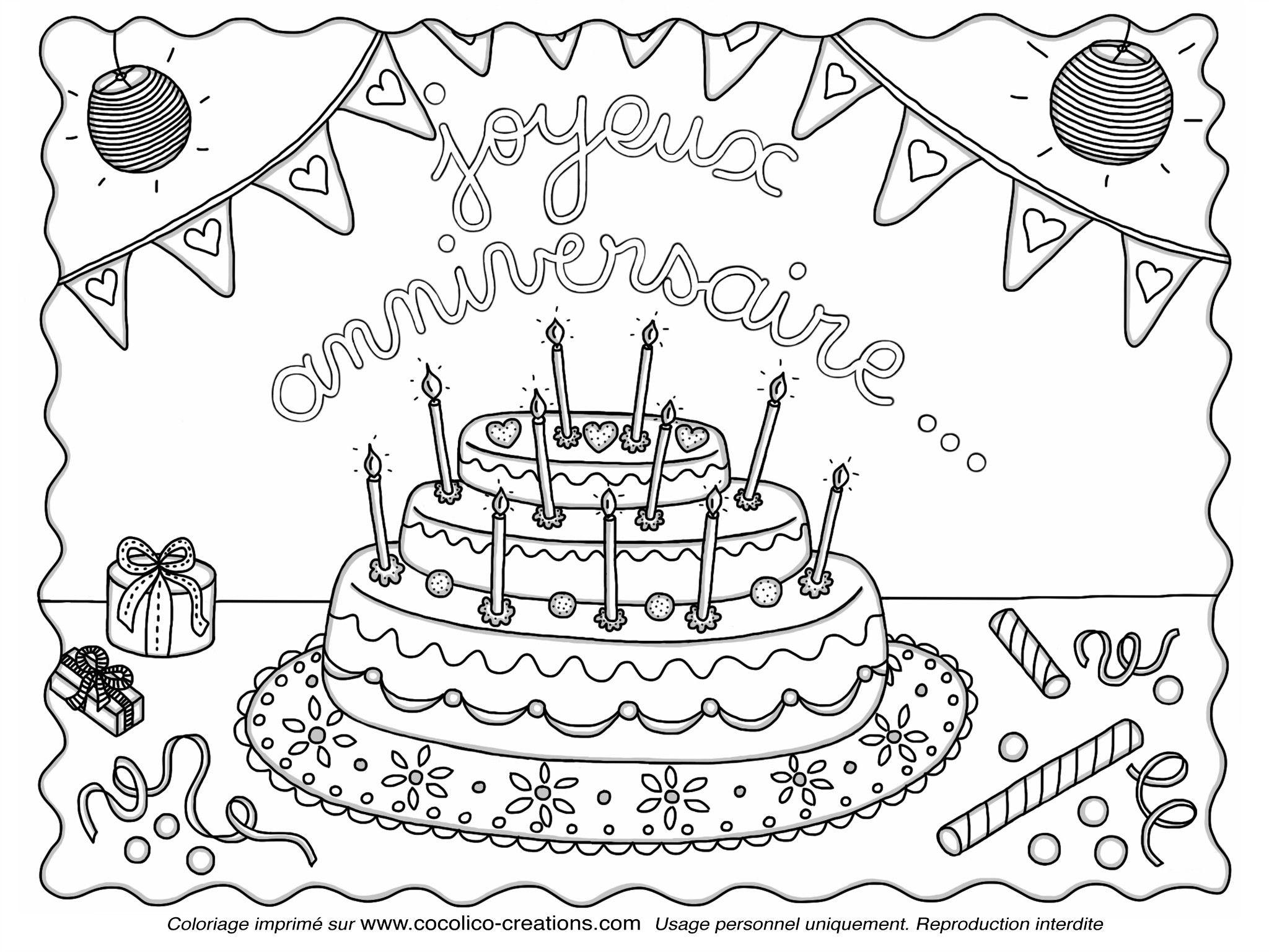 R sultat de recherche d 39 images pour coloriage gateau - Dessin sur gateau anniversaire ...