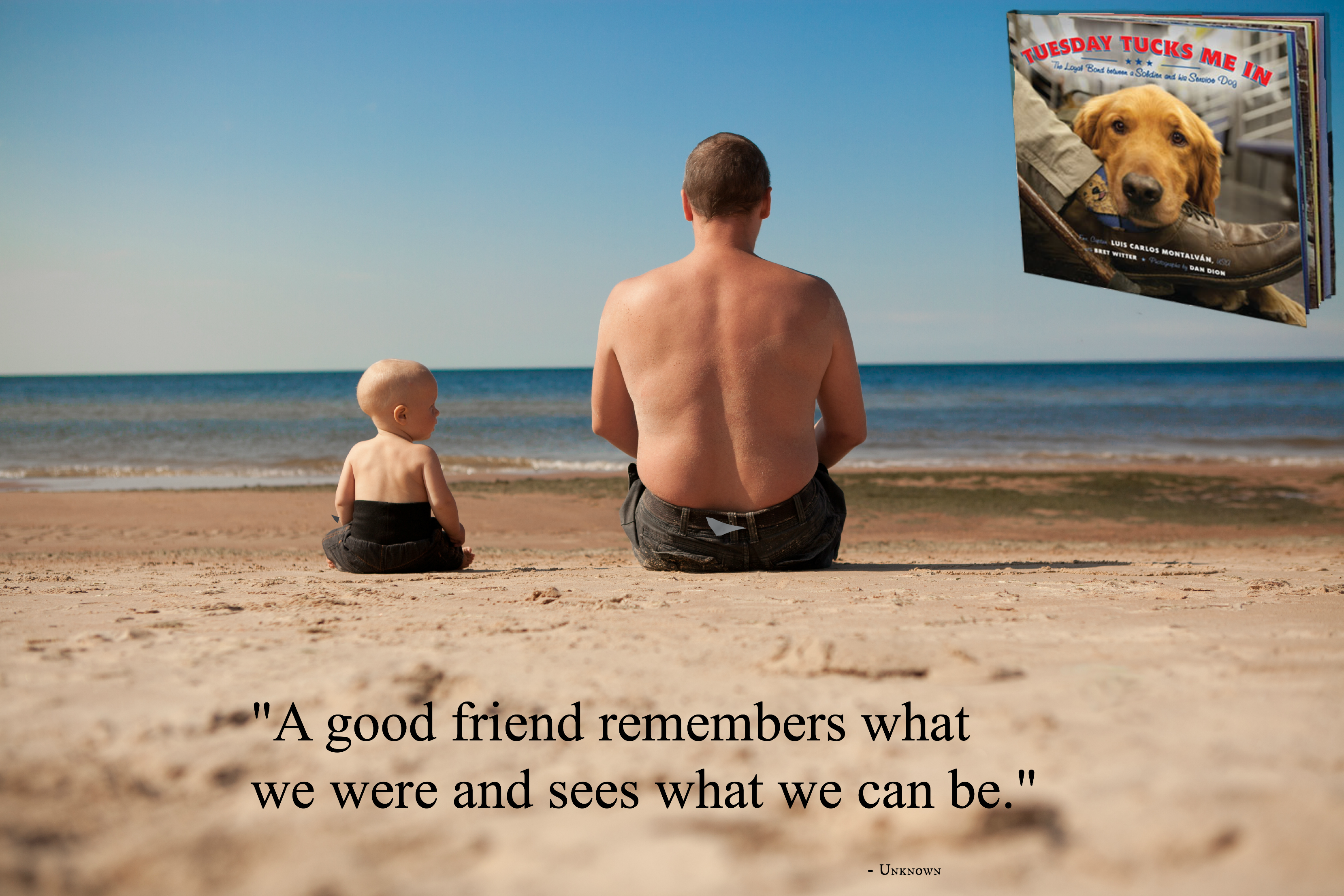 """""""A good friend remembers what we were and sees what we can"""