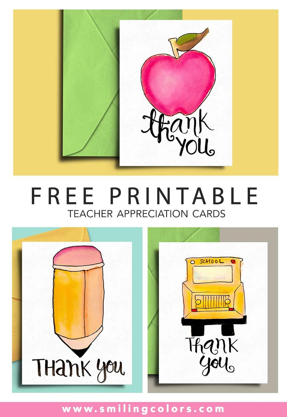 image about Printable Teacher Appreciation Card identify Thank by yourself card for Trainer and University Bus Driver with No cost