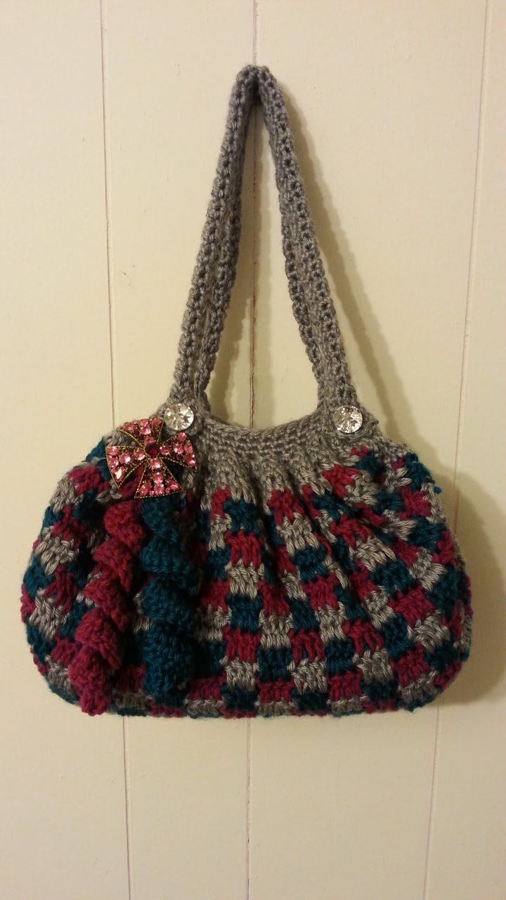 Crochet Clever Blocks Stitch Handbag Purse Tutorial Crochet Bag