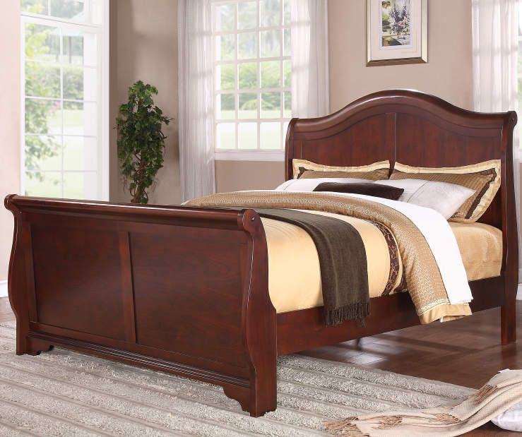 Henry Complete Queen Sleigh Bed Room View | Queen beds, Bed ...