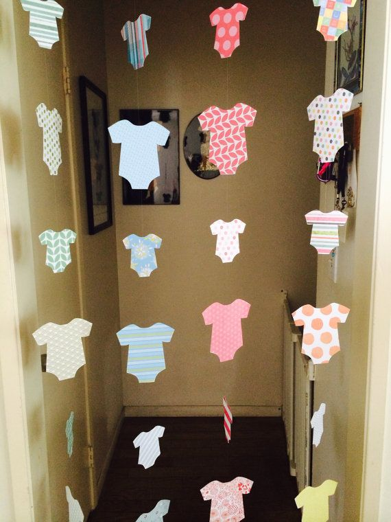 Where Can I Buy Baby Shower Decorations Part - 41: Baby Shower Decoration - Welcome Home Baby Decoration - Onesie Garlands -  Boy, Girl Or