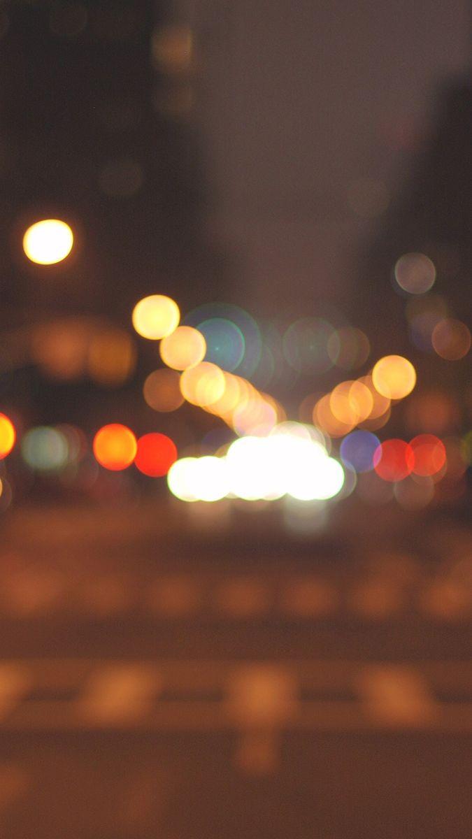 Halo Blurry Bokeh Road IPhone Wallpaper