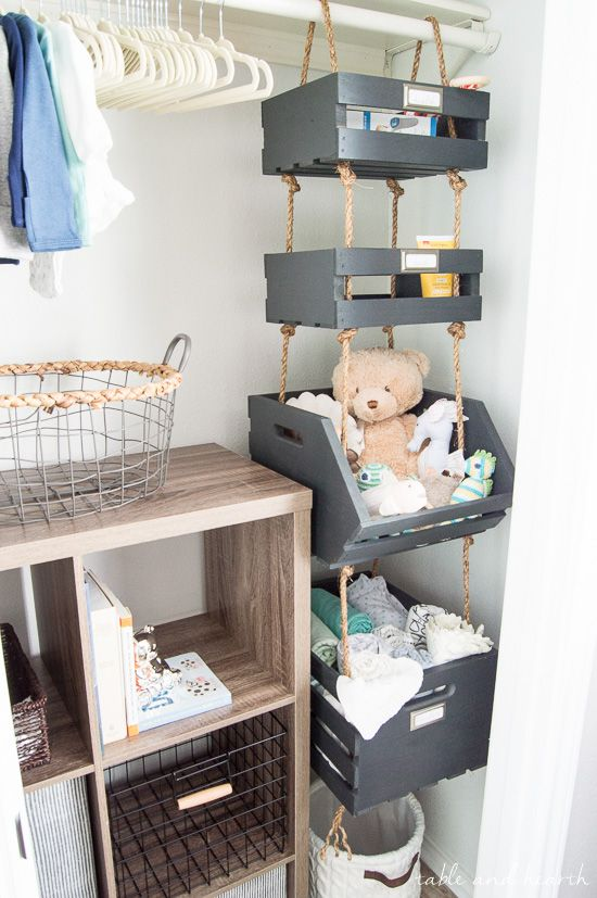 What A Cool Way To Use Vertical Space Hanging Closet Storage