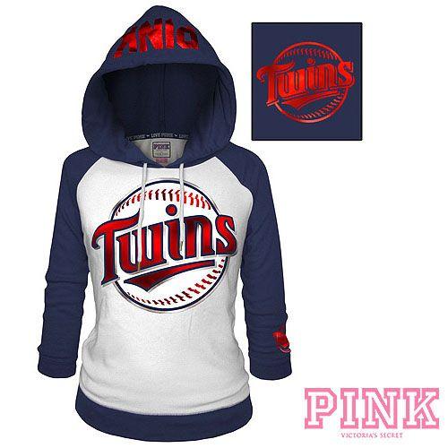 official photos df191 61585 Minnesota Twins Victoria's Secret PINK® Raglan Pullover ...