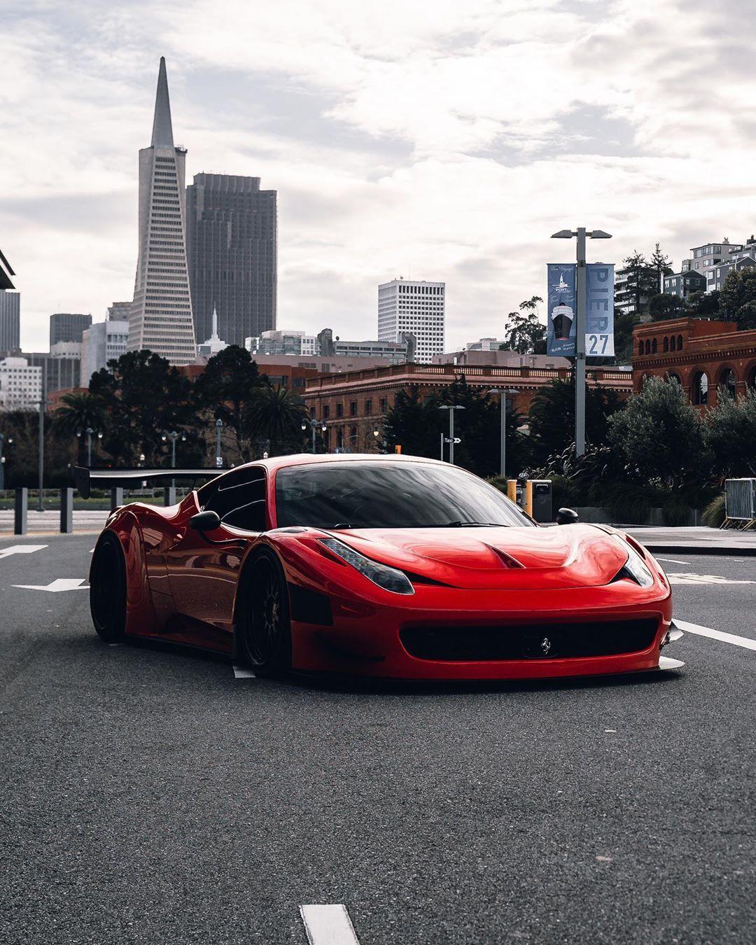 Custom Ferrari 4@dannyp1818 #ferrari #458gt3 #sanfrancisco