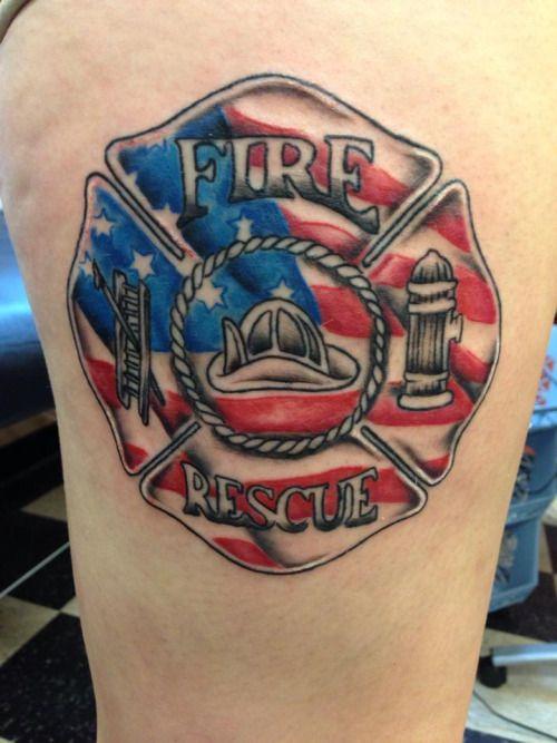 Firefighter Tattoo, Fire