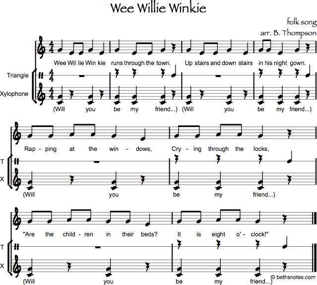 Wee Willie Winkie Orff