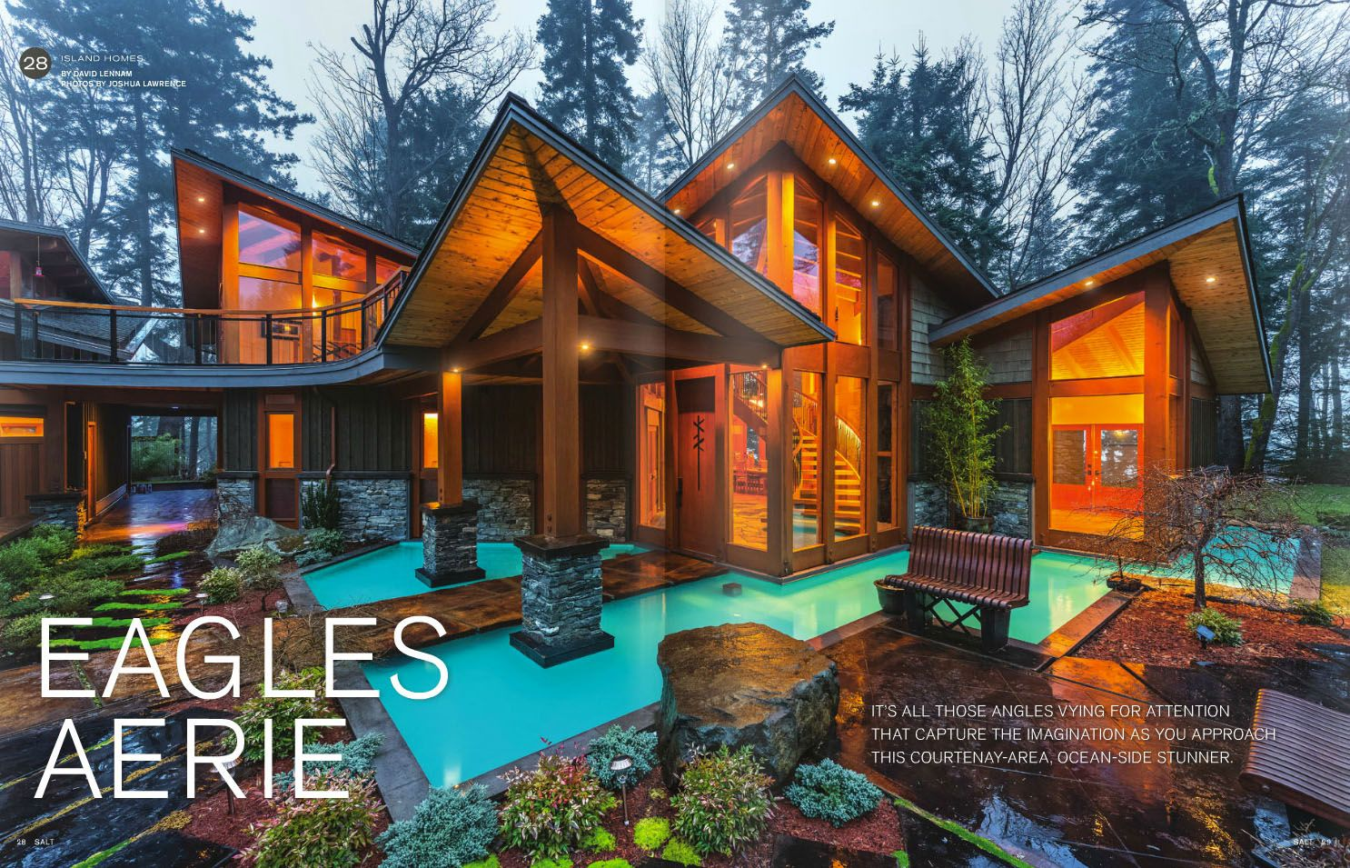 Stunning west coast modern timber frame estate courtenay for West coast home design