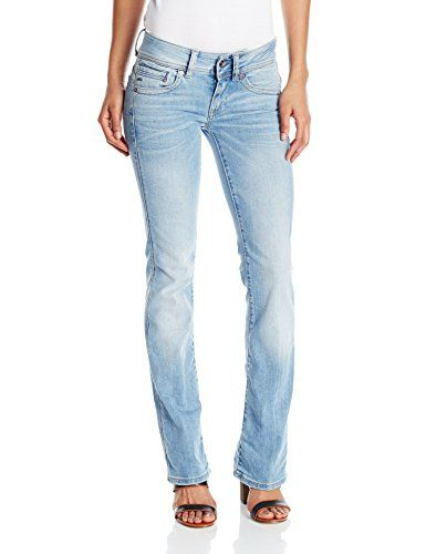 Women S Midge Saddle Mid Rise Bootleg Fit Jean In Brantley Stretch Denim Light Aged With Images Women Jeans G Star Clothes For Women