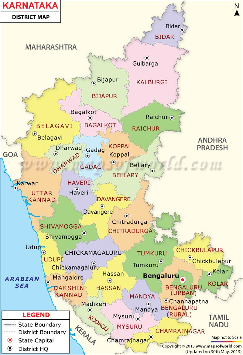 Karnataka Map Karnataka Map Pinterest Karnataka and India