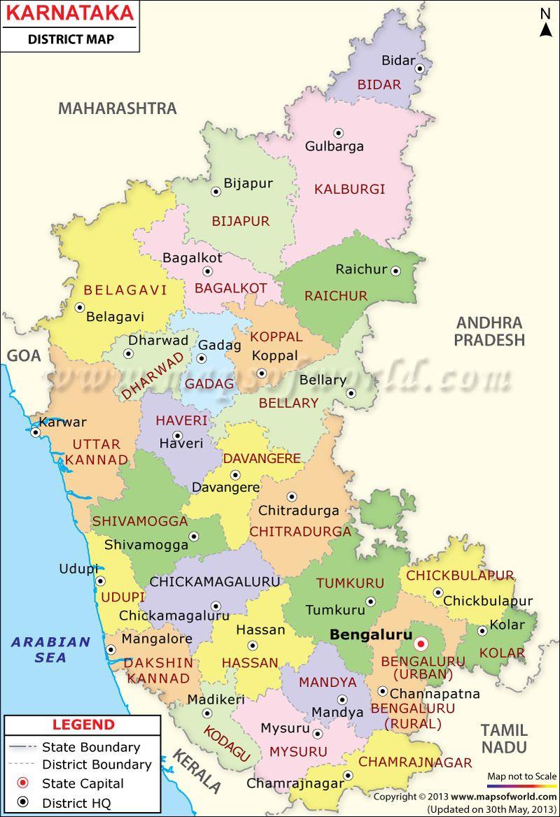 Pin on Karnataka Map India Karnataka State Map on gujarat state india map, bellary karnataka india map, bihar state india map,
