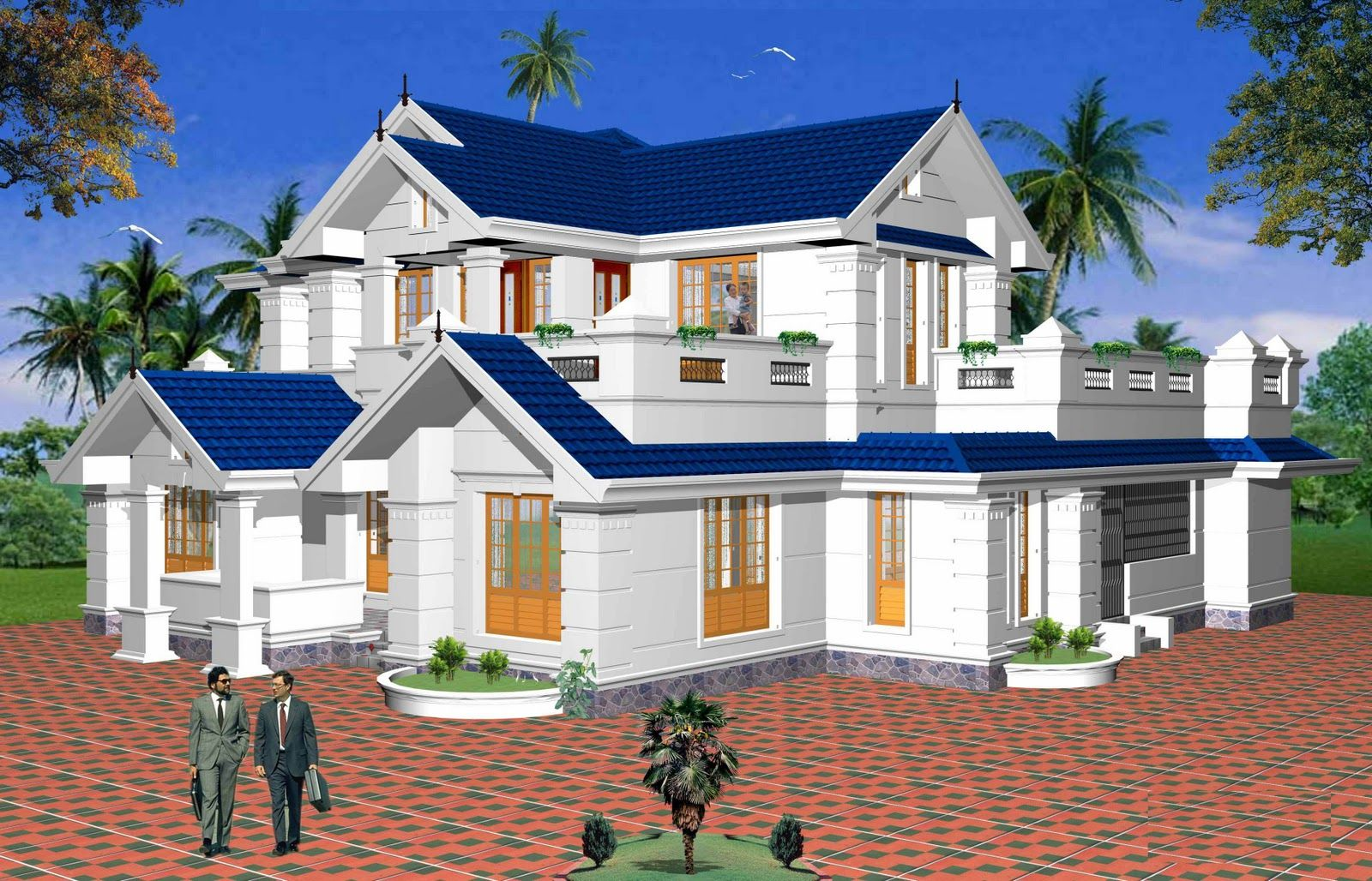 Indian independent villa design of cochin architects Indian villa floor plans