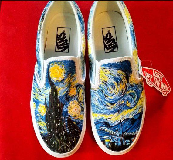 Custom Painted Vans Slip-Ons | Vans