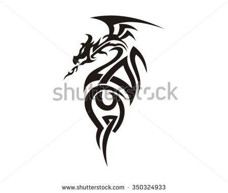 Dragon hand drawn tattoo vector patterns pinterest hand dragon hand drawn tattoo vector ccuart Images