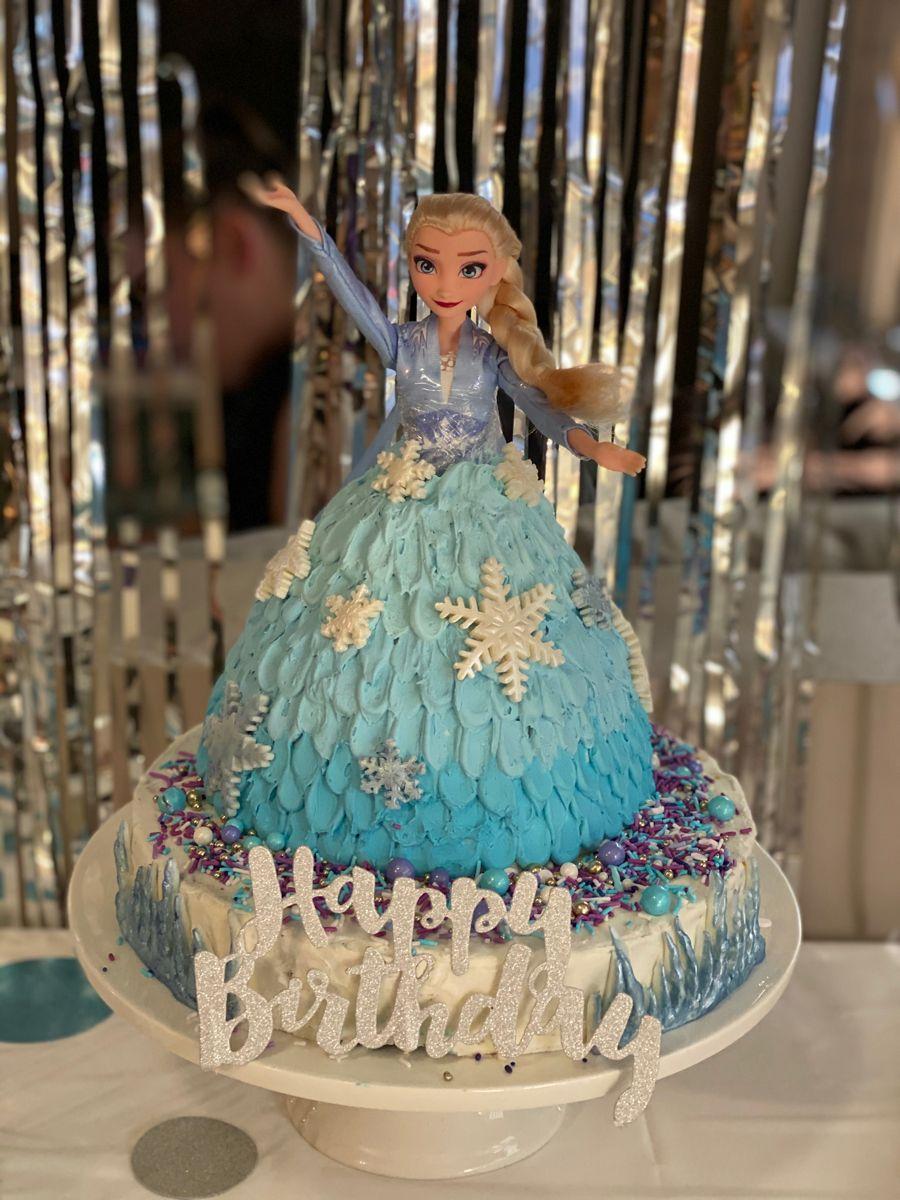Frozen Elsa birthday cake in 2020 Elsa birthday cake