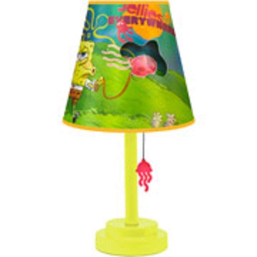 Spongebob 13 table lamp and shade new boxed 1 left stuff to buy licensed di cut table lamp and shade spongebob aloadofball Choice Image