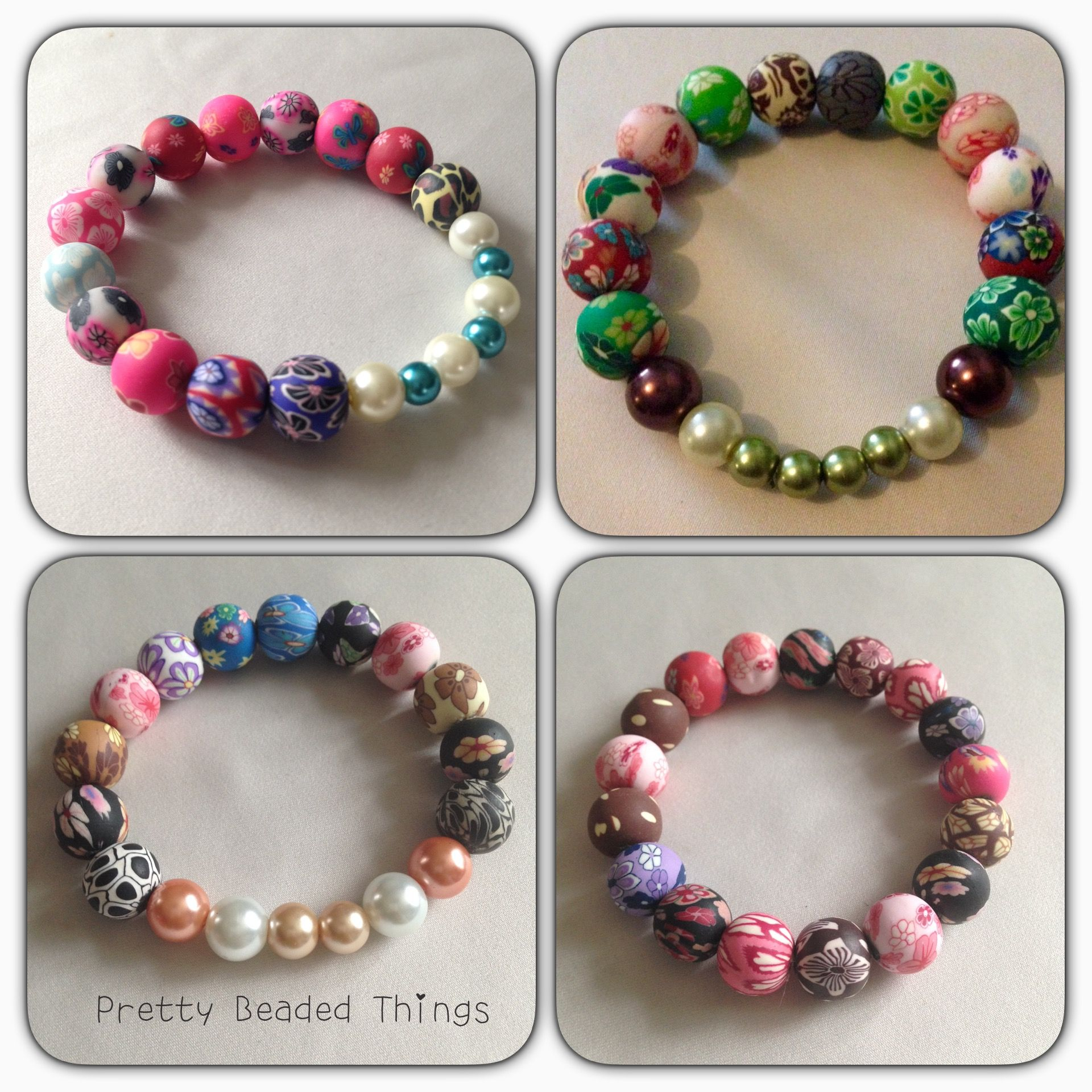Faux pearls and clay beads £2.50