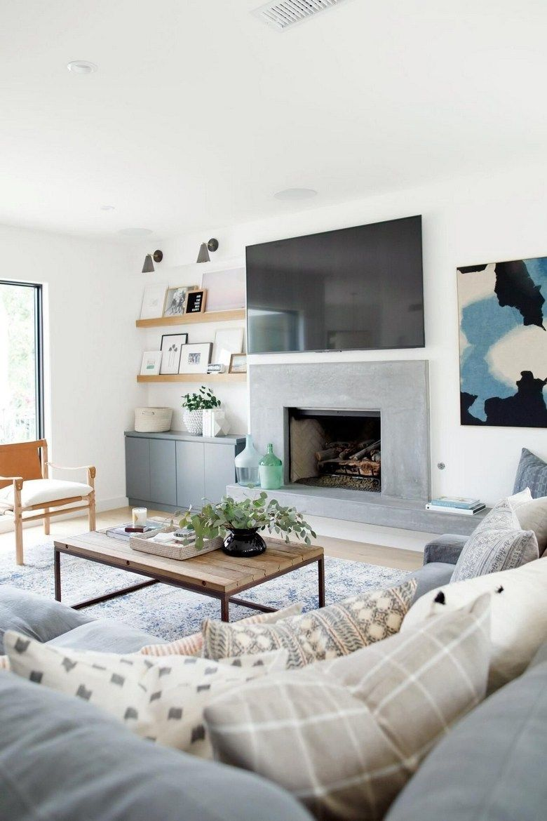 64 Idea Decorating A Narrow Living Room Layout With A Firep