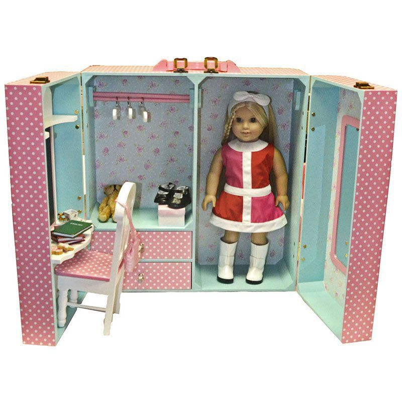 Superieur Queens Treasures 18 In. Doll Pink Storage Trunk With Accessories | From  Hayneedle.com