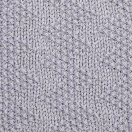 Moss stitch zig-zag