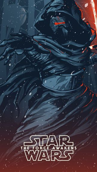 Starwars Kylo Ren Fanart Iphone 6 Wallpaper Dark Side Star Wars Star Wars Poster Star Wars Wallpaper