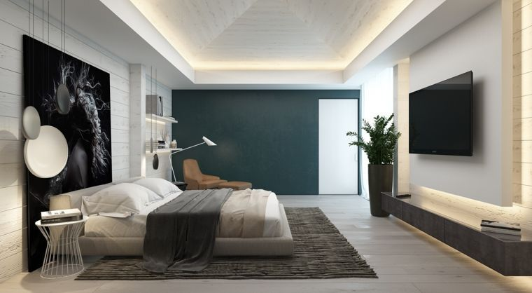 chambre contemporaine 33 id es d co murale design chambre pinterest chambre. Black Bedroom Furniture Sets. Home Design Ideas