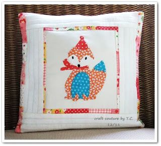 Craft Couture by T.C.: I did it..I made a cushion cover!