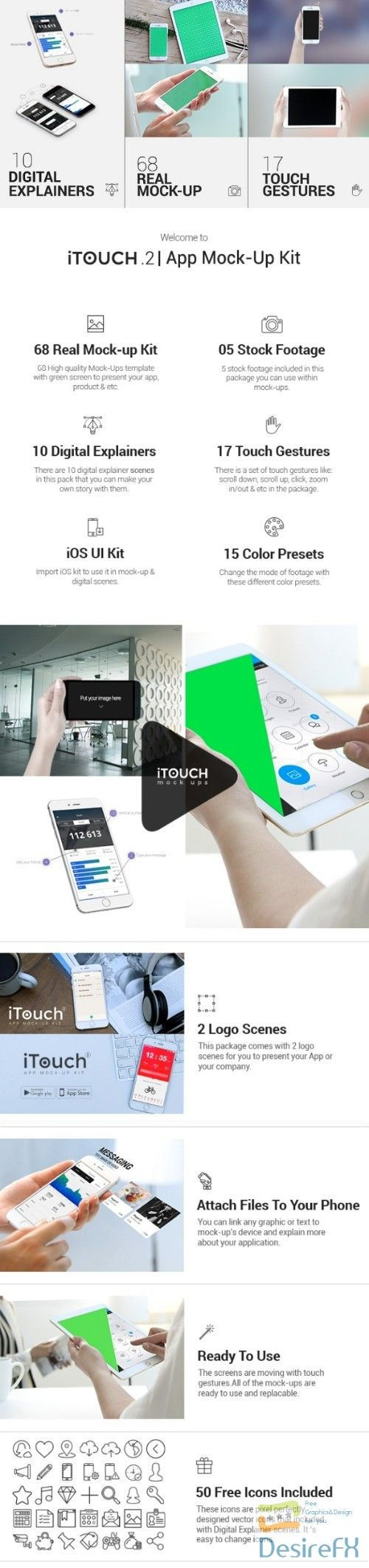 Videohive iTouch 2 App Promo MockUp Kit 11589383