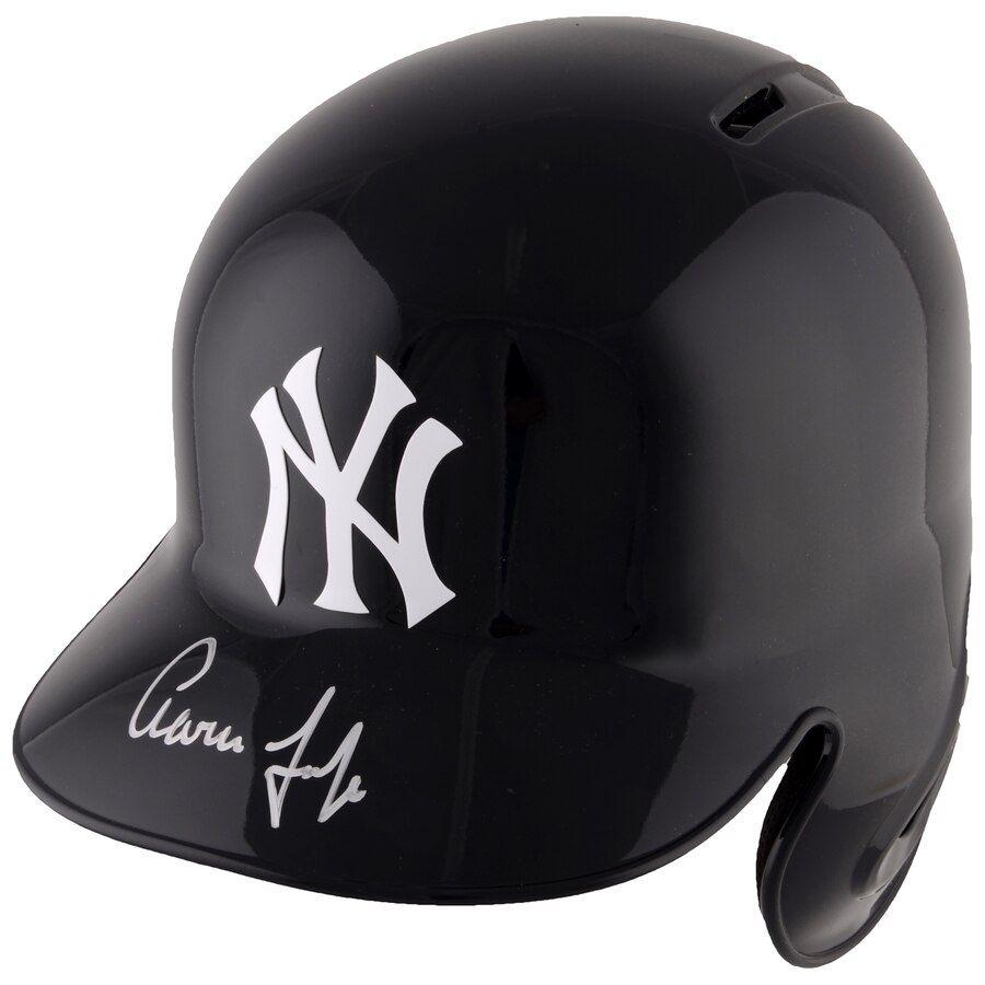 Autographed New York Yankees Aaron Judge Fanatics Authentic Replica Batting Helmet Batting Helmet New York Yankees Youth Baseball Gloves