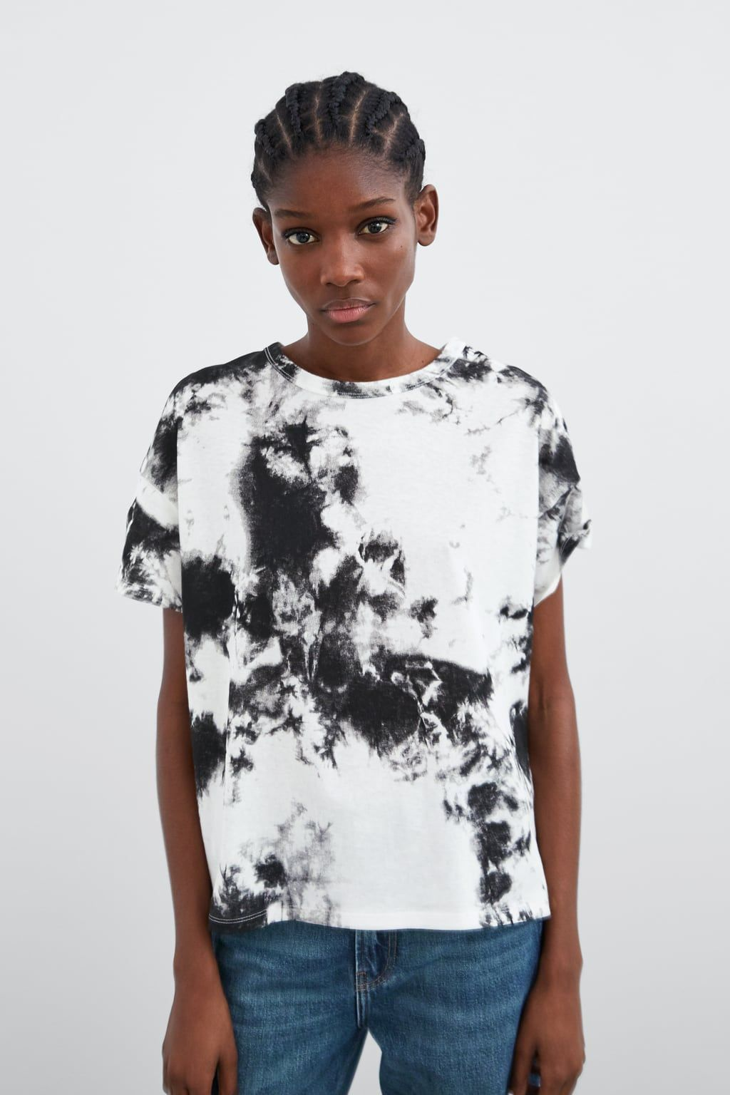 Image 2 Of Printed T Shirt From Zara Tie Dye Print Tie Dye Outfits Tie Dye [ 1536 x 1024 Pixel ]