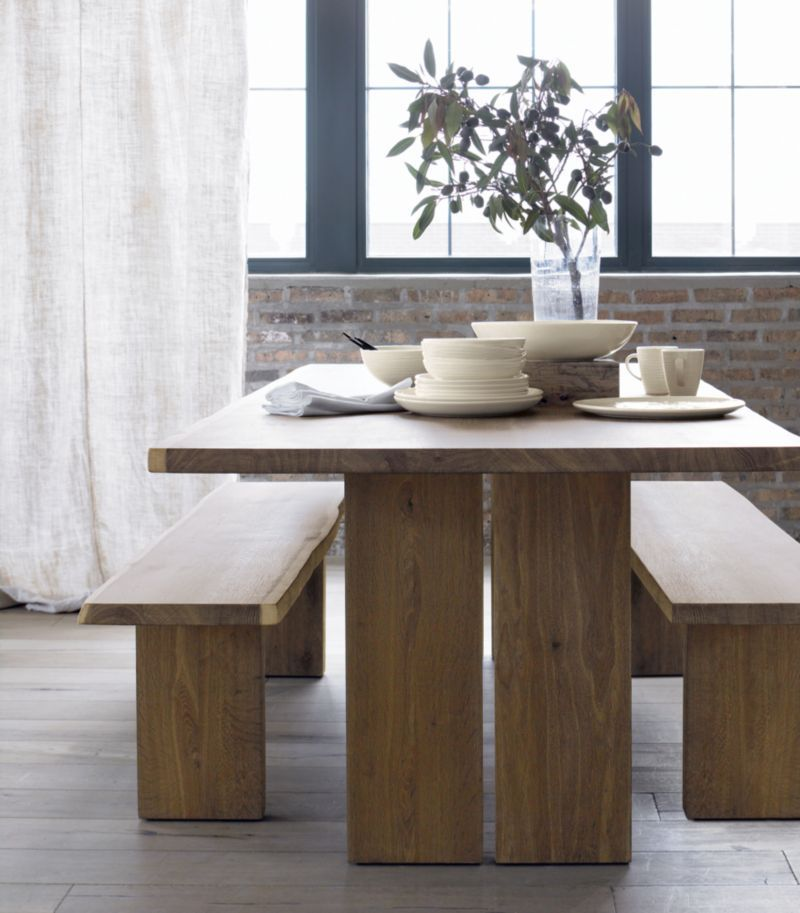 Dakota 77 Dining Table In Dining Tables Crate And Barrel Dining Table With Bench Dining Table Dining Room Table