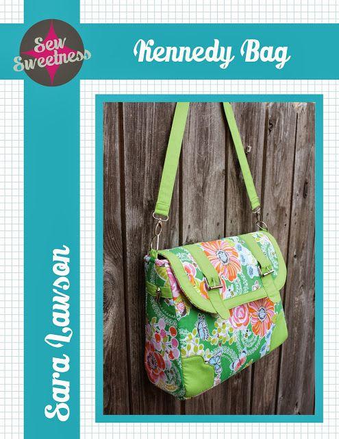 Kennedy Bag Free Pattern | Taschen nähen, Nähen und Nähideen