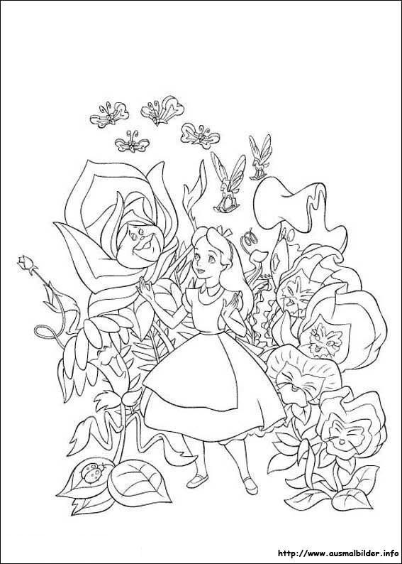 Alice im Wunderland malvorlagen | Tattoo | Pinterest