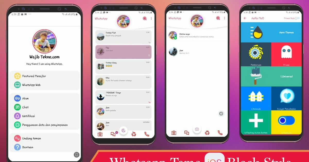 Download Aero Tema Whatsapp Mod Ios 12 Terbaru 2019 Nes Tekno Download Themes Whatsapp Iphone Mod Ios Versi Terbaru Keren Cara Desain App Teks Lucu Iphone