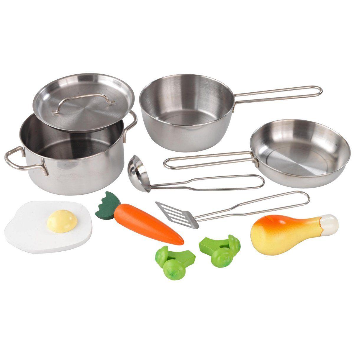 kidkraft metal accessories set | play kitchen accessories