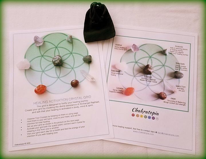Custom Crystal Grid Kit Healing Activation Crystal grid