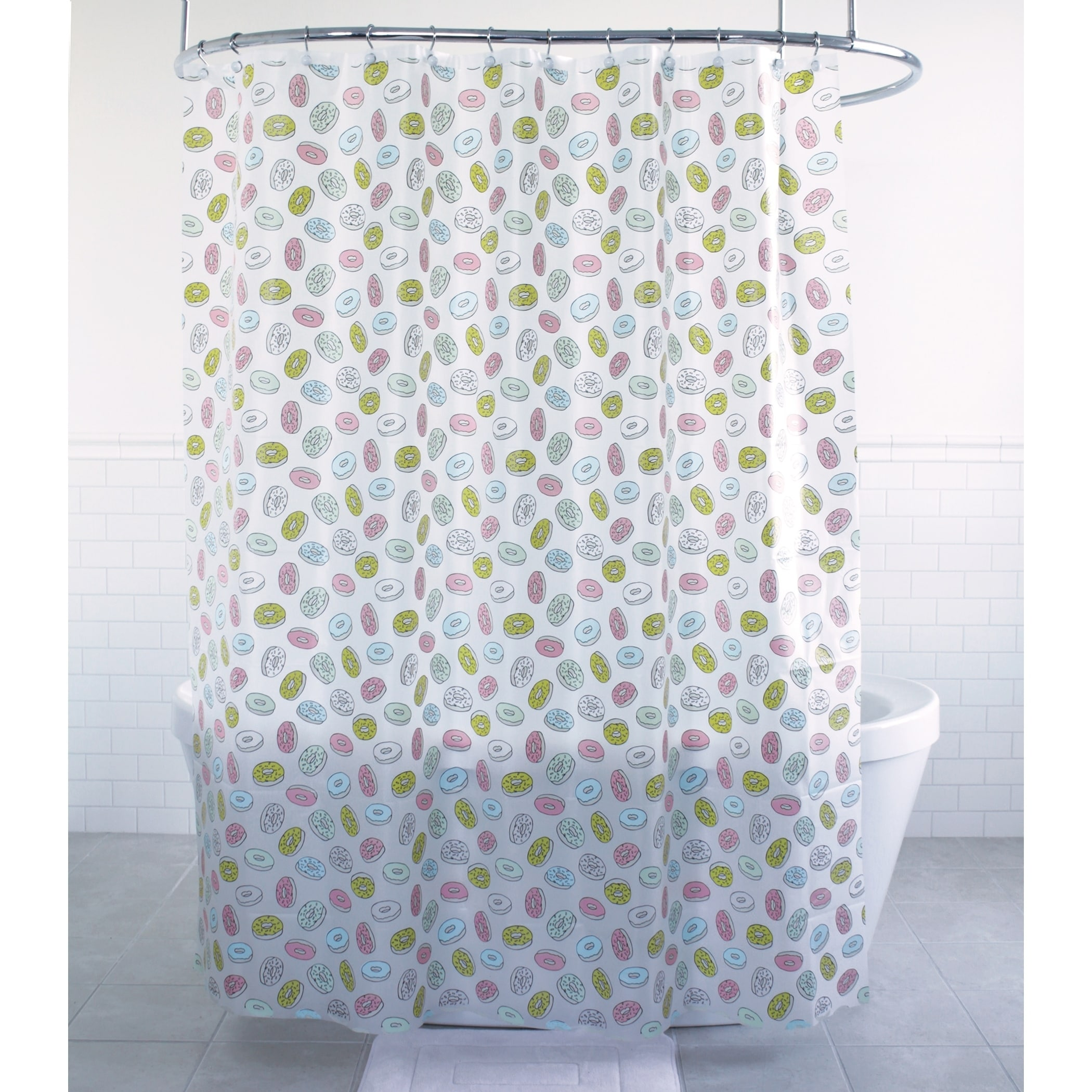 Splash Home Delights Donuts Peva Shower Curtain 70 X 7 Inch