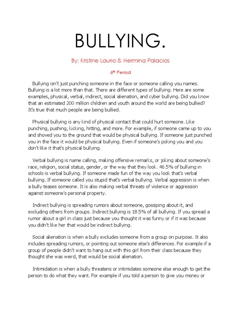 Research Paper About Bullying In 2020 Writing A Term Paper Informative Essay Essay Writing Competition