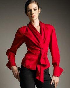 f4a8c1295 Blusas rojas de vestir 1   Rojo Pasión y Fuego   Blusas de moda ...