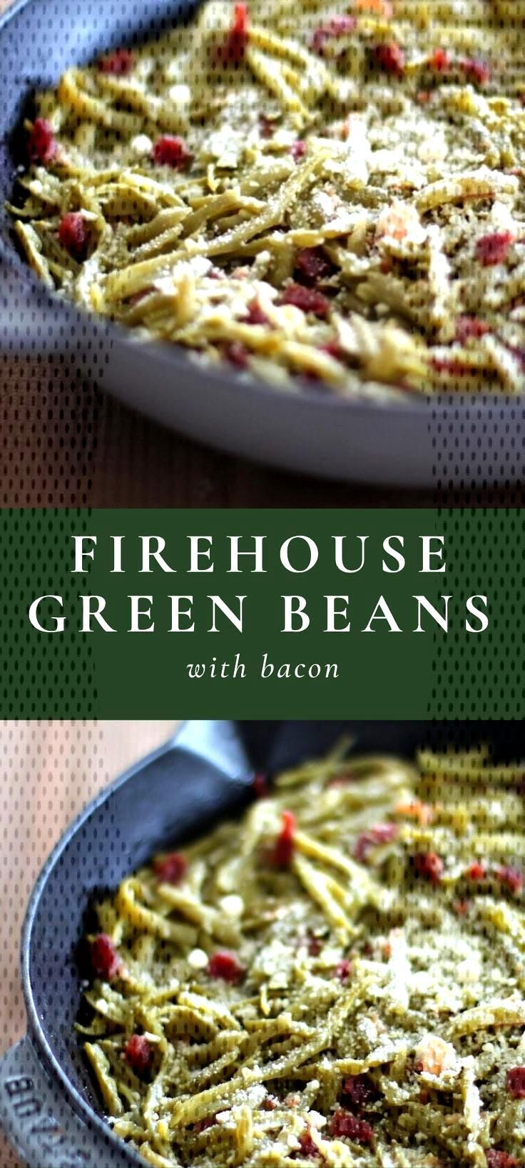 Step aside green bean casserole, Firehouse Green Beans with Bacon are an easy, last-minute side dis