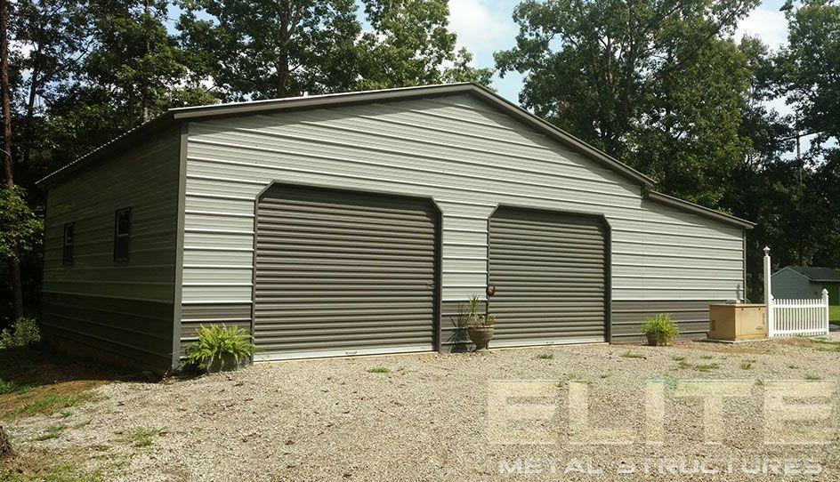 14 24 Wx26 Lx9 H Garage Vertical Roof Elite Metal Structures Metal Buildings Metal Structure Metal Garage Buildings