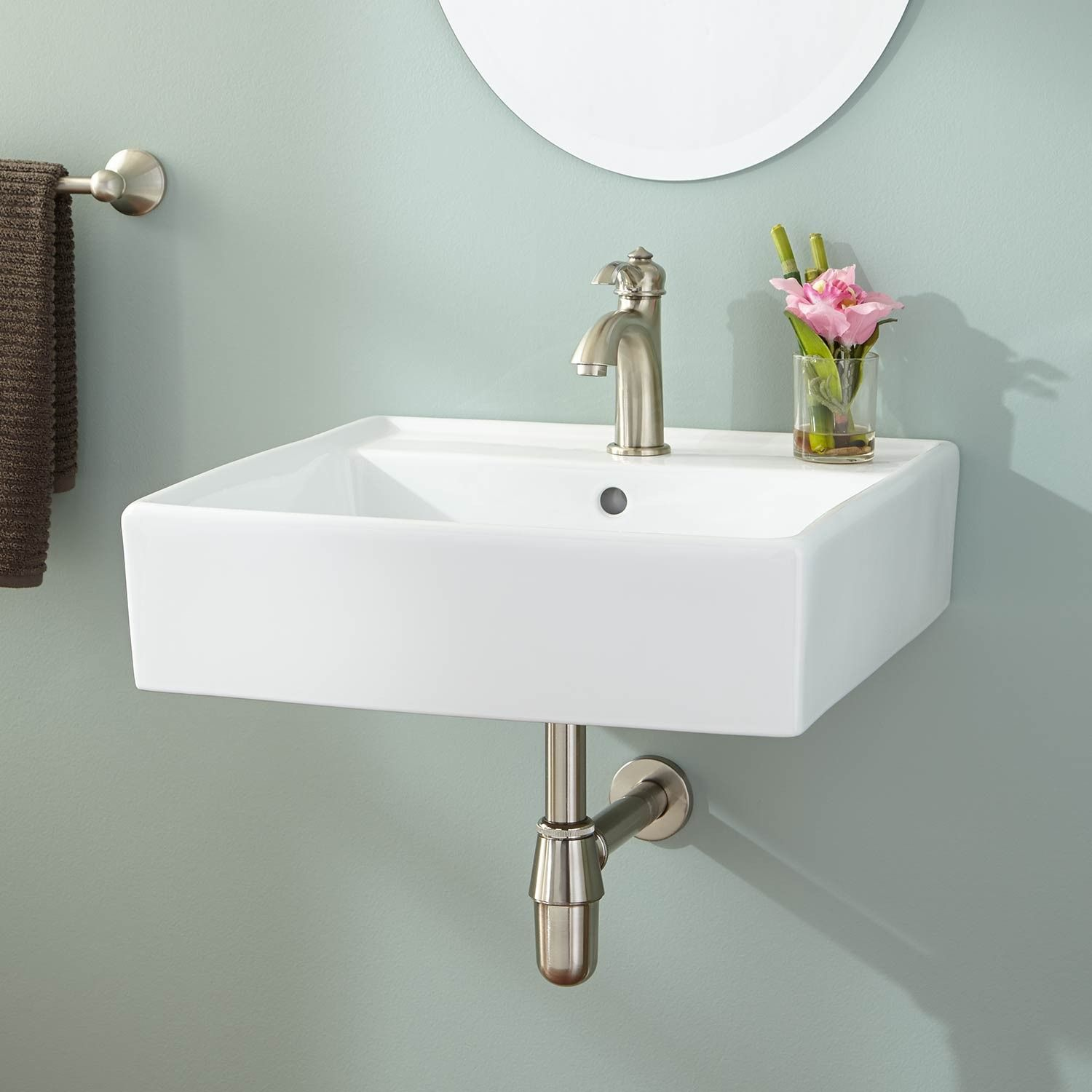 Wall Mount Sinks Mounted Bathroom Signature Hardware Regarding