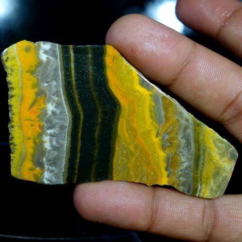 170.50Cts. Natural Designer Bumble Bee Jasper Rarest Polish Slab Rough Gemstones #Handmade