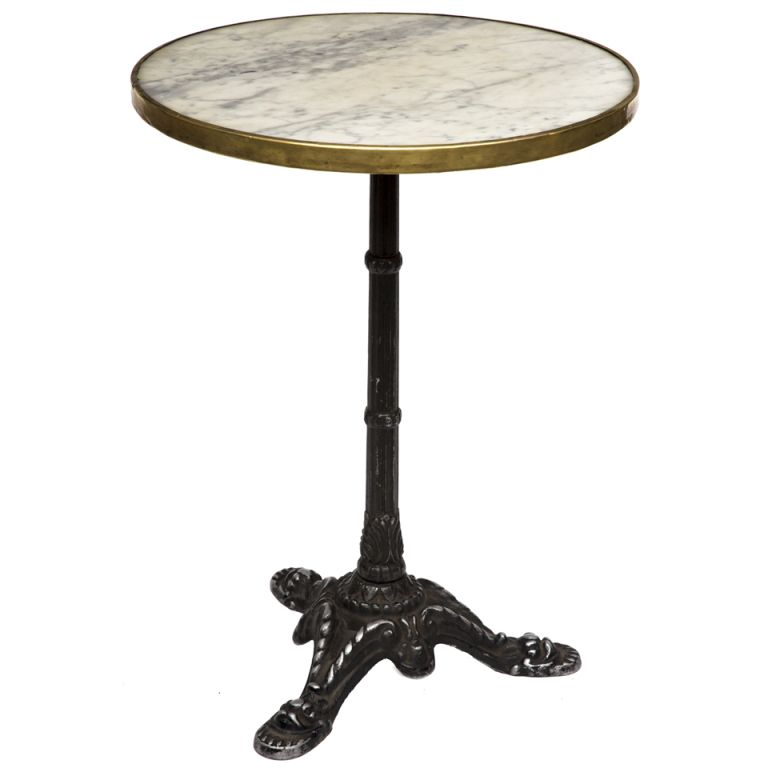 Marble Bistro Accent Table: French Antique Marble And Iron Bistro Table In 2019