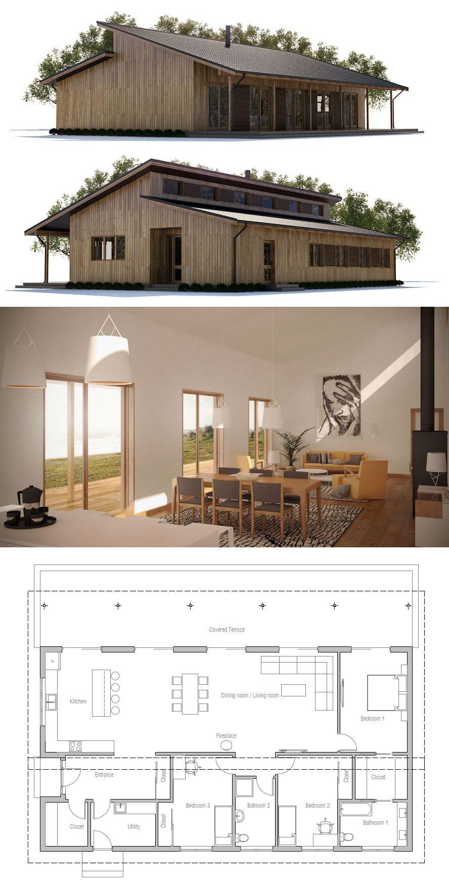 Plan De Maison Maison Maison Modernes Petite Maison House Plans